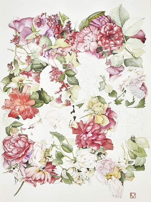Elisabeth Vitou Roses exposition Galerie Couteron